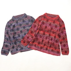 【Mix dot Jacquard knit】
